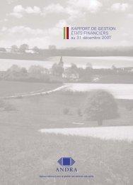 Rapport De Gestion Etats financiers 2007 - Andra