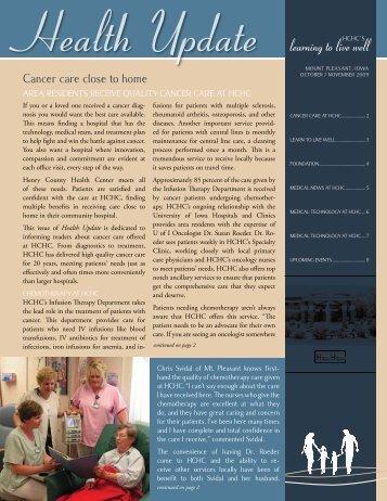 October-November 2009 - Henry County Health Center