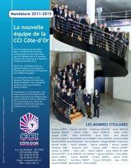 La nouvelle équipe de la CCI Côte-d'Or