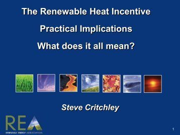 Steve Critchley – Renewable Energy Association - The Building ...