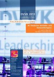 Download Ausstellervorinformationen DVVK 2013 (PDF, 3,13 MB)