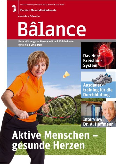 Zeitschrift Bâlance - Gesundheitsdienste - Kanton Basel-Stadt