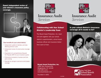 Insurance Audit Services Brochure - New York State School Boards ...