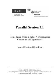 Home-based Work in India - Inclusive Cities