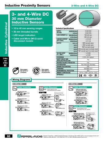 inductive sensor iq 08 dc 3 wire sensing range 2 4 mm can be 3 and 4 wire dc marshall wolf automation