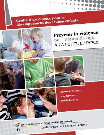 Rapport : Prévenir la violence par l'apprentissage à la petite enfance