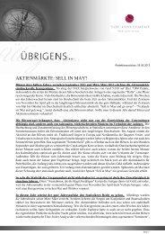 Newsletter vom 05. Mai 2012 - TOP-Investment GmbH