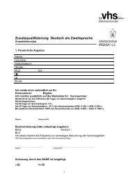 Zusatzqualifizierung Deutsch als Zweitsprache