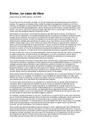 Enron, un caso de libro - Fundación Étnor