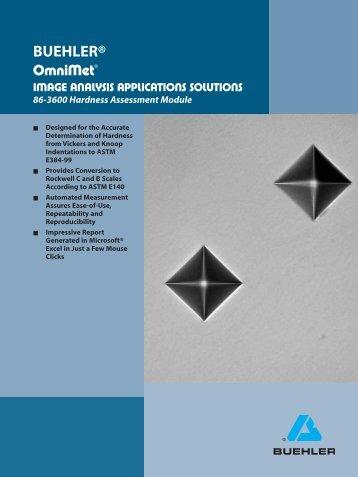 OmniMet Module - Hardness - Buehler