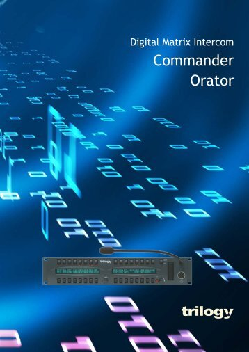 Commander Orator brochure V6 May09.indd - Trilogy ...