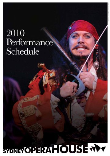 2010 Performance Schedule - Sydney Opera House