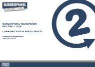 BP Wijdemeren 2014-06 Peiling 1 - Communicatie-Participatie
