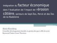 Intégration du facteur économique dans l'évaluation de l ... - Ouranos