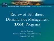(DSM) Programs - Electricity Market and Policy - Lawrence Berkeley ...