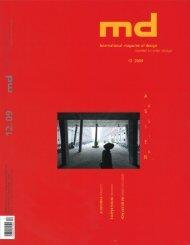 md int. magazine of design 12/2009 - f/p design gmbh