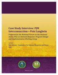Case Study Interview: PJM Interconnection—Pete Langbein