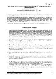 Grundsätze für die Anerkennung und Durchführung von ...