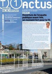 Ouverture de l'enquête publique avant l'été - T1 Bobigny – Val de ...