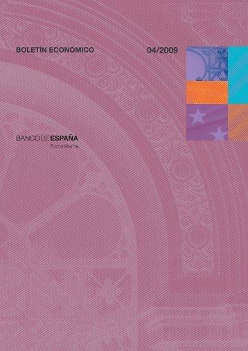 Boletín Económico. Abril 2009 - Expansión
