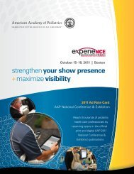 2011 Ad Rate Card - American Academy of Pediatrics National ...