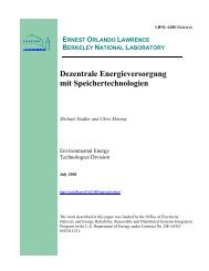 Dezentrale Energieversorgung mit Speichertechnologien