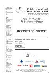 Dossier de presse - 2e Salon international des ... - SIETAR Europa
