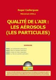 QUALITÉ DE L'AIR : LES AÉROSOLS (LES PARTICULES)