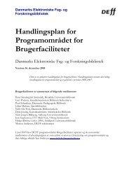 Handlingsplan 2006 - DEFF