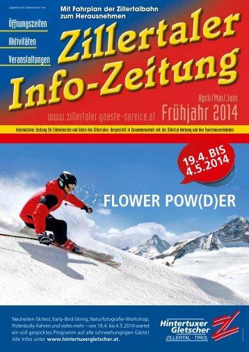 Zillertaler Infozeitung Frühjahr 2014