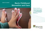 Early Childhood Education and Care - Newman University College