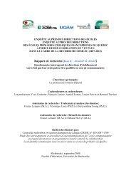 Item II - Centre de recherche sur l'intervention éducative (CRIE)