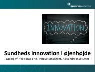 Sundheds innovation i øjenhøjde - Innovation X