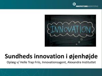 Sundheds innovation i øjenhøjde - Innovation X