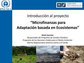 Microfinanzas para Adaptación basada en Ecosistemas