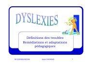 La dyslexie - Sylvie Castaing - Chez