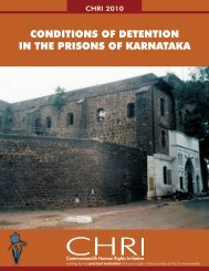 Prison Conditions in Karnataka - Commonwealth Human Rights ...