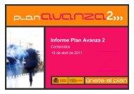 Informe Plan Avanaza Programa Contenidos Digitales - Plan Avanza