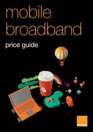 mobile broadband - Orange