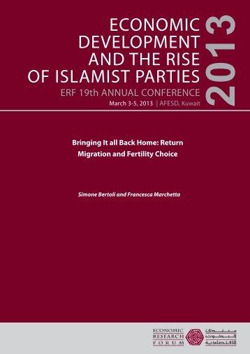 Return Migration and Fertility Choice - Economic Research Forum
