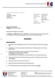 Sitzung des Kreistags Anlagen: 6 ... - Landkreis Freyung-Grafenau