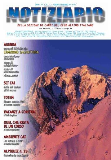 ANNO 33 / N. 1 - GENNAIO/FEBBRAIO 2009 - CAI Sezione di Carpi