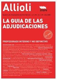 LA GUIA DE LAS ADJUDICACIONES - Intersindical Valenciana