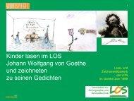 Kinder lasen im LOS Johann Wolfgang von Goethe und zeichneten ...