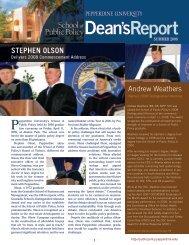 Summer 2008 - Pepperdine University School of Public Policy