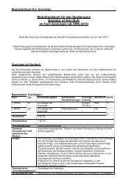 Modulhandbuch/Studienplan - Sowi