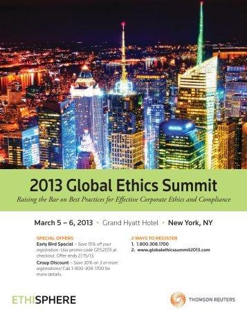 2013 Global Ethics Summit - West LegalEdcenter