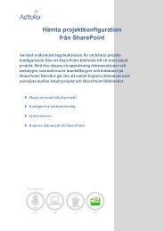 Hämta konfiguration från Sharepoint - Adtollo