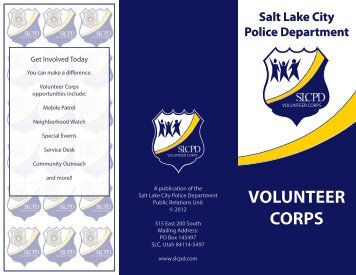 Volunteer Corps - Salt Lake City Police Department