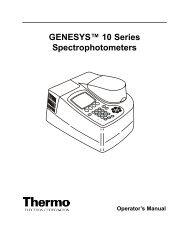 GENESYS™ 10 Series Spectrophotometers - CePoL/MC NAWI Graz